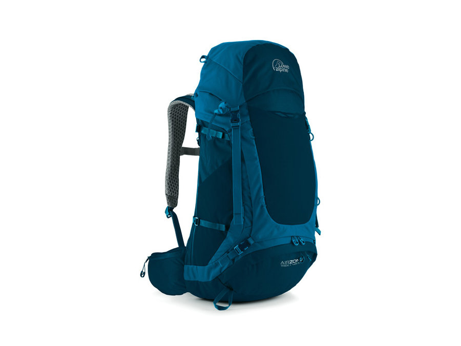 Modrý turistický batoh Lowe Alpine - objem 55 l