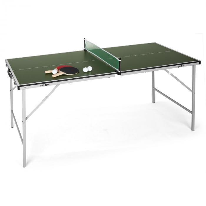 Zelený vnitřní stůl na stolní tenis King Pong, Klarfit