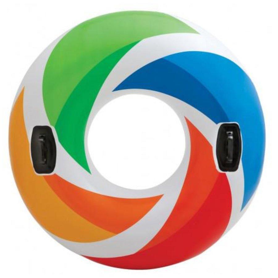 Různobarevný dětský nafukovací kruh INTEX - průměr 122 cm