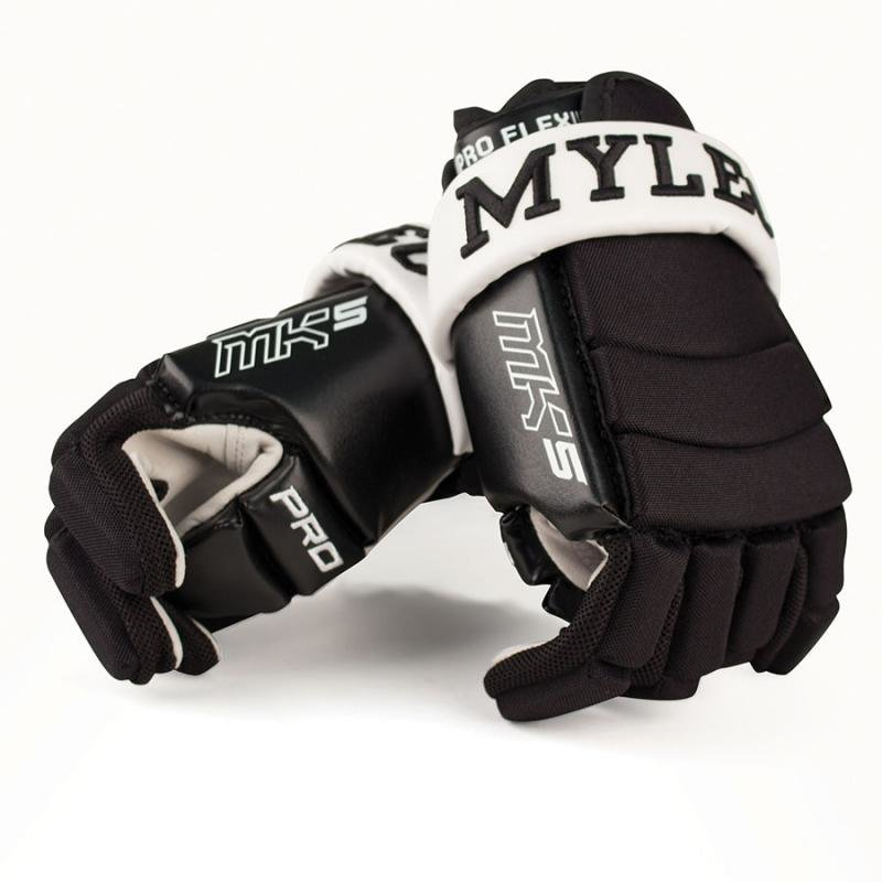 Černé hokejbalové rukavice Mylec
