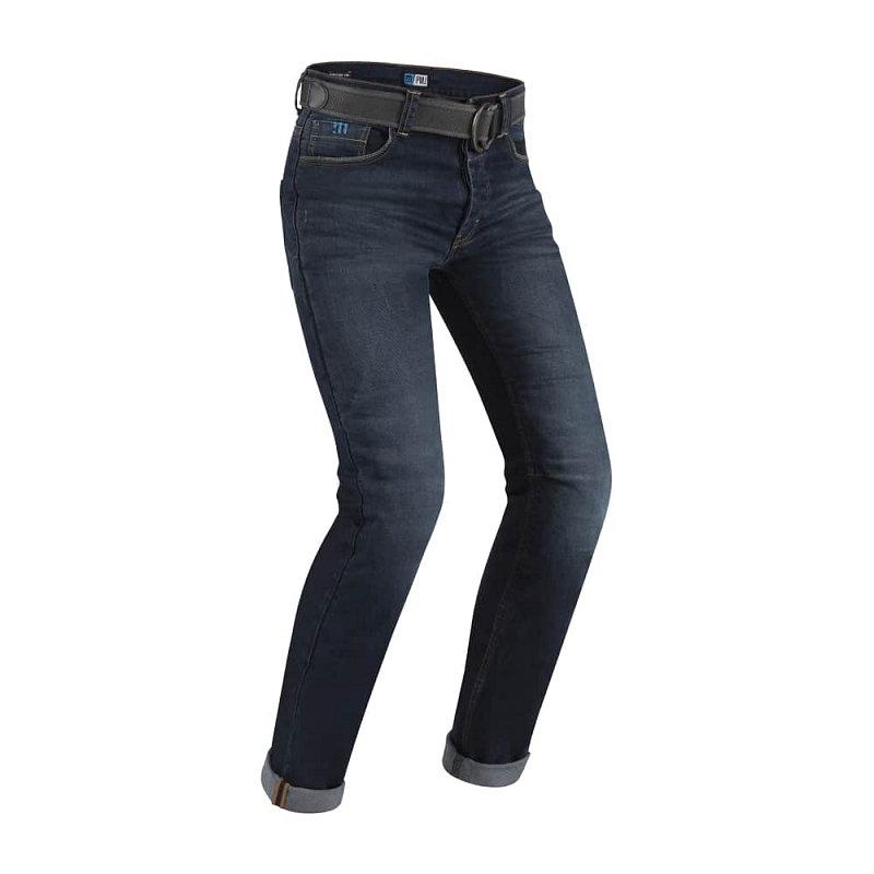 Modré pánské motorkářské kalhoty Legend Café Racer, PMJ Promo Jeans