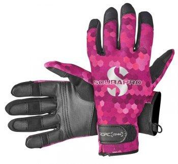 Růžové dámské neoprenové rukavice TROPIC, Scubapro