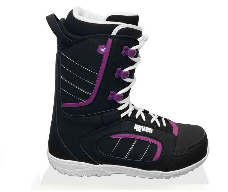 Černé dámské boty na snowboard Raven