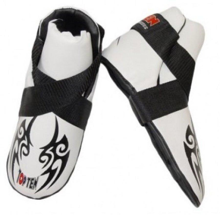 Bílé chrániče na nohy Top Ten - velikost L