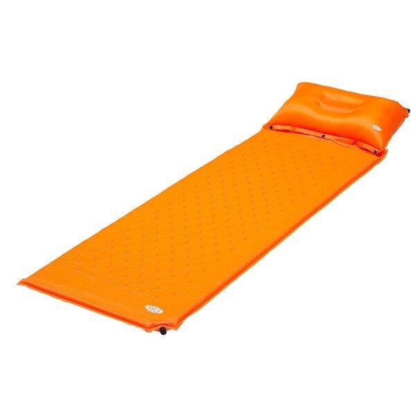 Oranžová samonafukovací karimatka NILS CAMP - tloušťka 2,5 cm