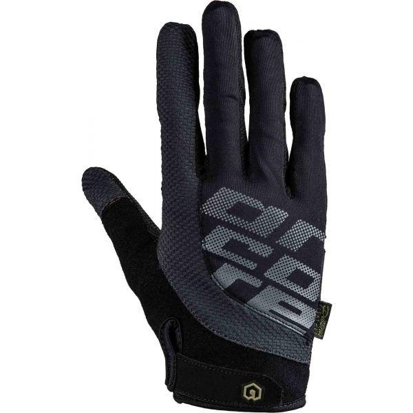 Černo-šedé cyklistické rukavice Arcore