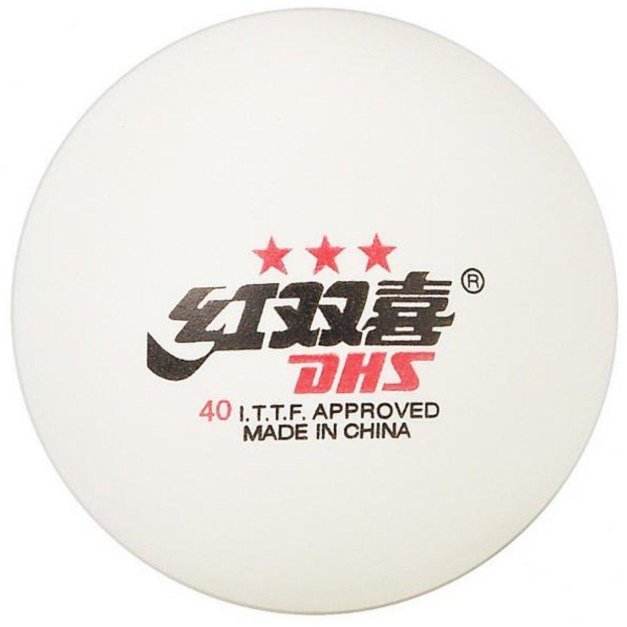 Bílý míček na stolní tenis DHS - 6 ks