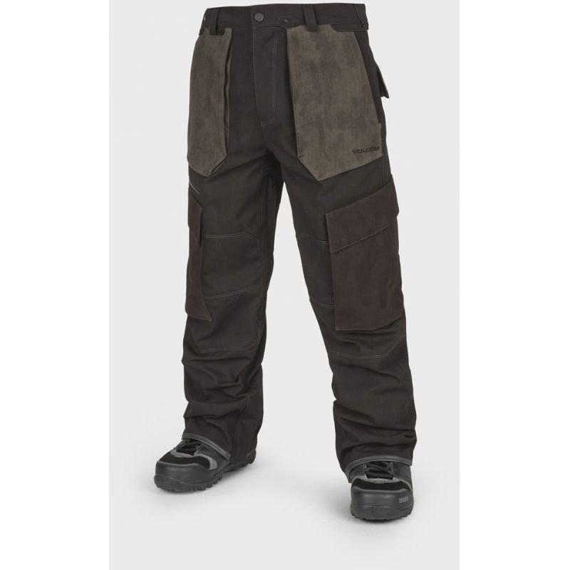 Hnědé pánské snowboardové kalhoty Volcom - velikost XL