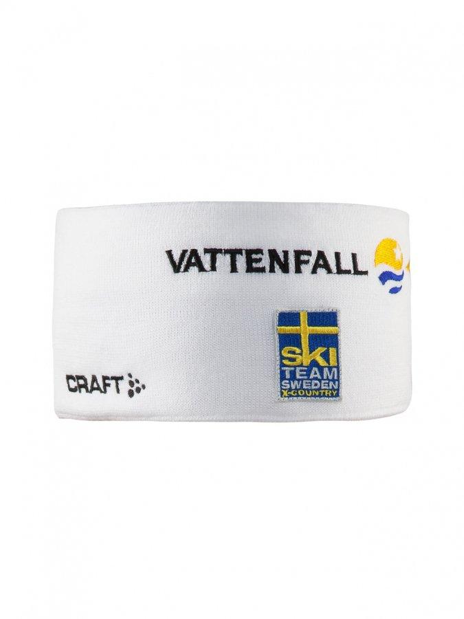 Bílá běžecká čelenka Ski Team Race, Craft - velikost L-XL