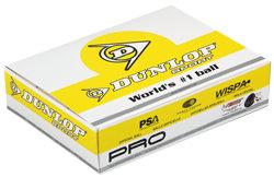 """Černý míček na squash """"dvojitá žlutá tečka"""" Dunlop - 12 ks"""