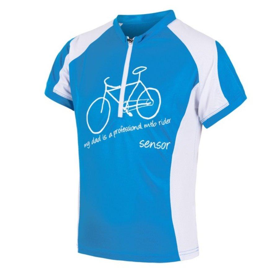 Bílo-modrý dětský chlapecký nebo dívčí cyklistický dres Sensor - velikost 130