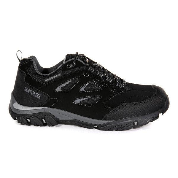 Černé nepromokavé pánské trekové boty Holcombe, Regatta - velikost 41 EU