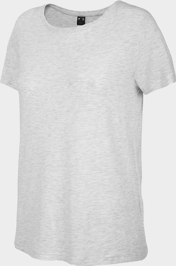 Bílé dámské tričko s krátkým rukávem 4F