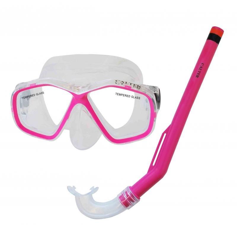Potápěčská maska - Potápěčský set CALTER KIDS S06+M278 PVC, růžový