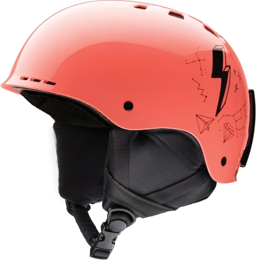 Oranžová dětská lyžařská helma Smith
