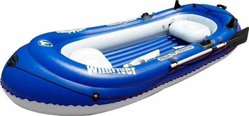 Modrý nafukovací člun s nafukovacím dnem pro 2 osoby + 1 dítě Wildriver, Aqua Marina