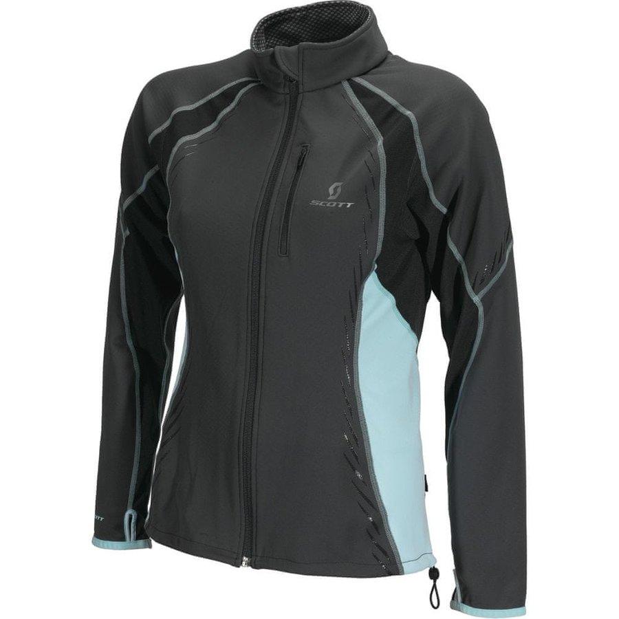 Modro-šedá dámská bunda na běžky bez kapuce Scott - velikost XL
