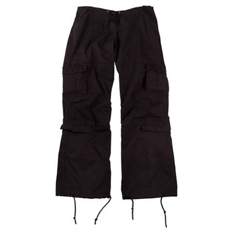 Kalhoty - Kalhoty dámské VINTAGE ČERNÉ