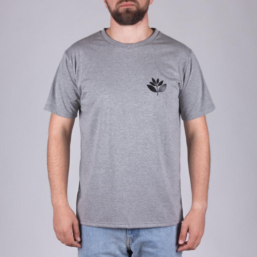 Šedé pánské tričko s krátkým rukávem s potiskem Plant Tee Heather, Magenta