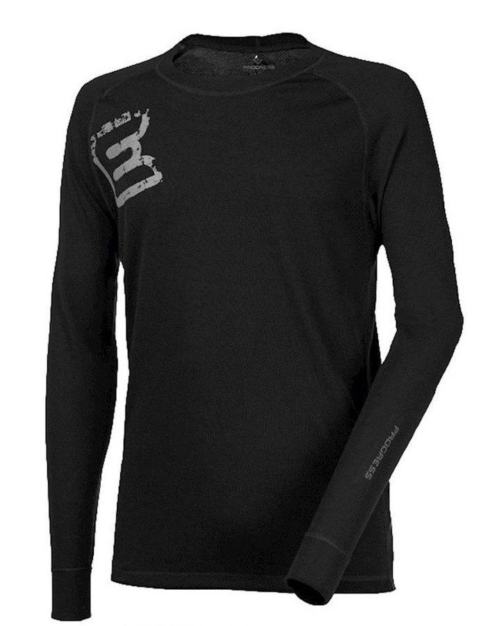 """Cyklistické tričko - Pánské funkční triko Progress DF NDR Print """"E"""" potisk Velikost: L / Barva: černá"""