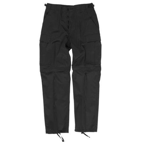 Kalhoty - Kalhoty BDU ZIP-OFF odepínací nohavice ČERNÉ