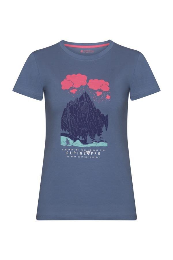 Modré dámské tričko s krátkým rukávem Alpine Pro