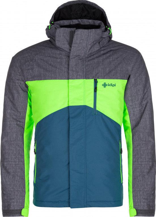 Tyrkysová zimní pánská bunda s kapucí Kilpi