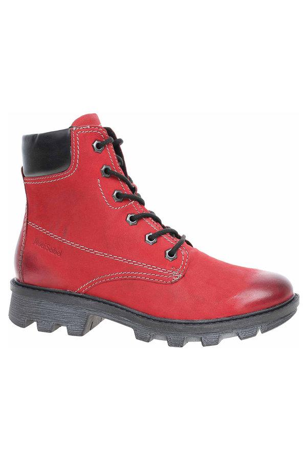 Červené dámské kotníkové boty Josef Seibel - velikost 38 EU