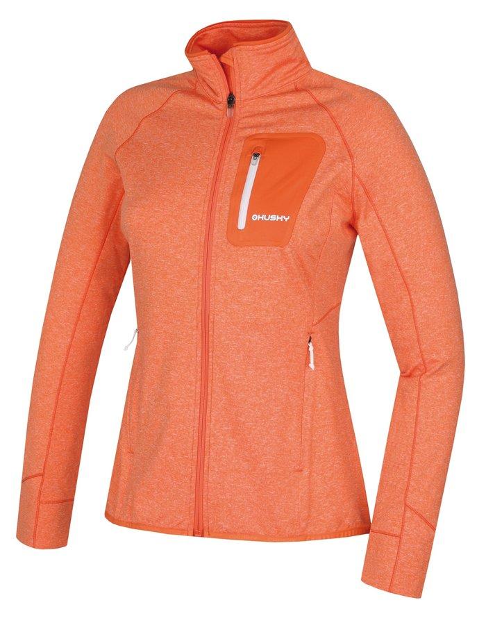 Oranžová dámská mikina Husky