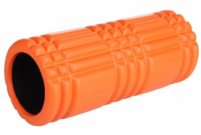 Oranžový jóga válec LiveUp - průměr 15 cm