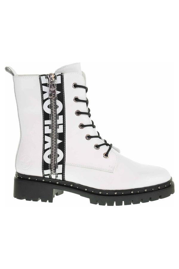 Bílé dámské zimní boty Rieker