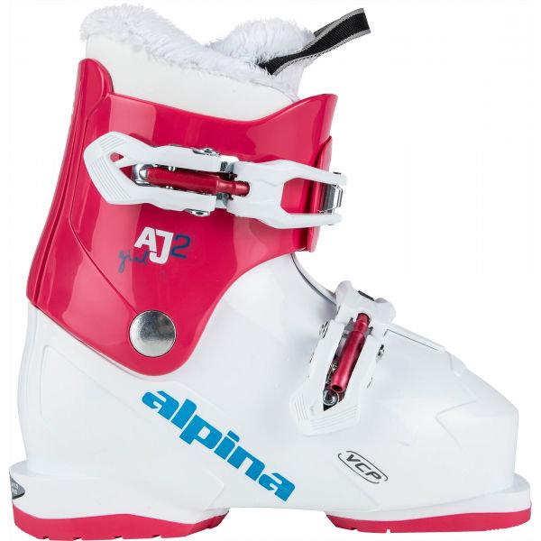 Bílo-růžové dětské lyžařské boty Atomic