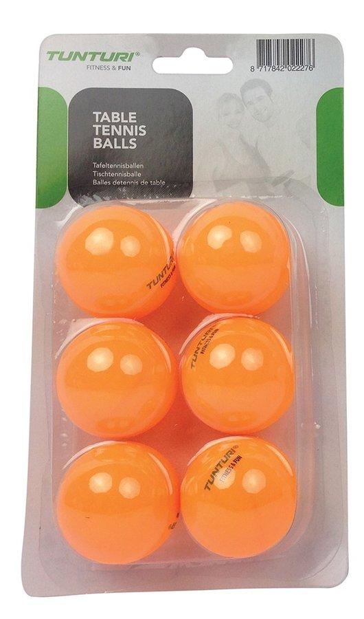 Oranžový míček na stolní tenis Tunturi - 6 ks