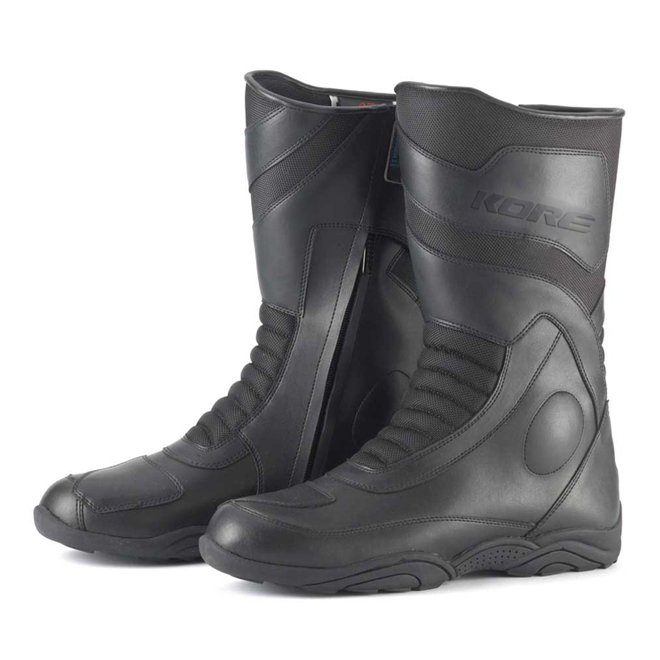 Černé vysoké pánské motorkářské boty Touring Mid, Kore