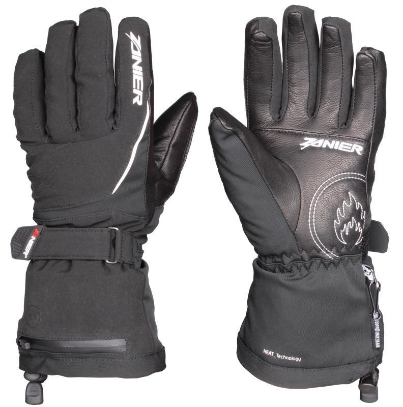 Černé dámské lyžařské rukavice s vyhříváním Zanier - velikost L