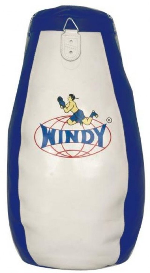 Bílo-modrý boxovací pytel WINDY - 40 kg