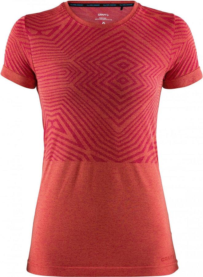 Červené dámské funkční tričko s krátkým rukávem Craft