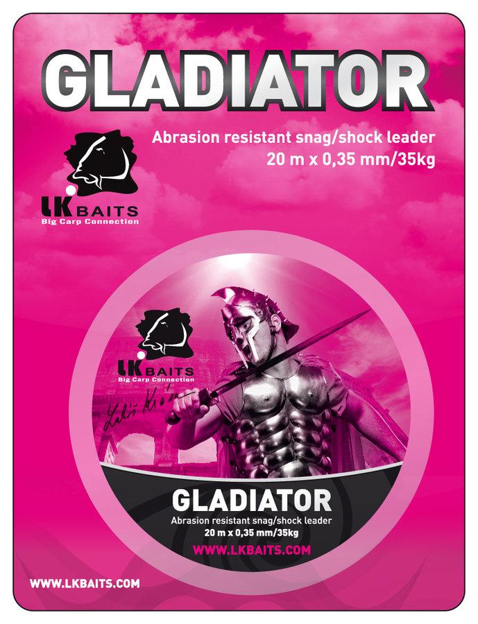 Návazcová šňůra - LK BAITS návazcová šňůrka GLADIATOR 35KG/20M