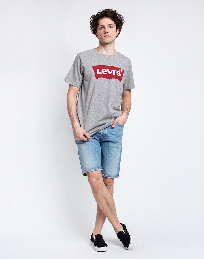 Šedé pánské tričko s krátkým rukávem Levi's