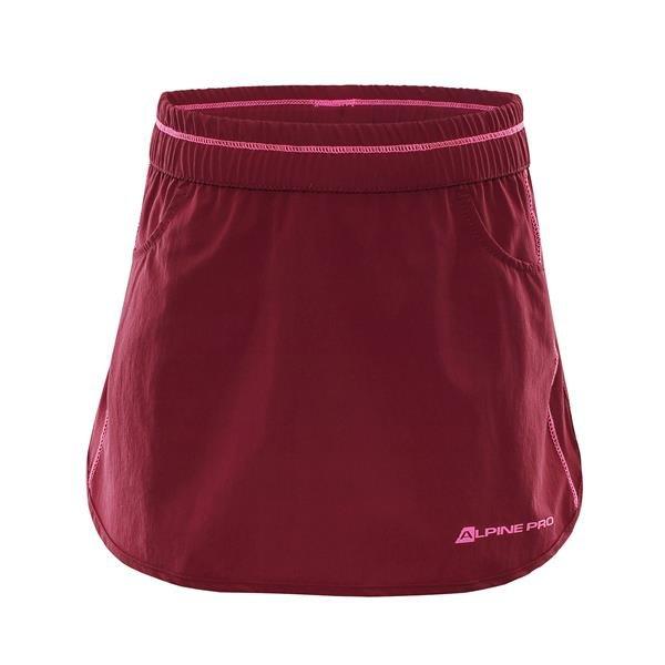Červená dívčí sukně Alpine Pro