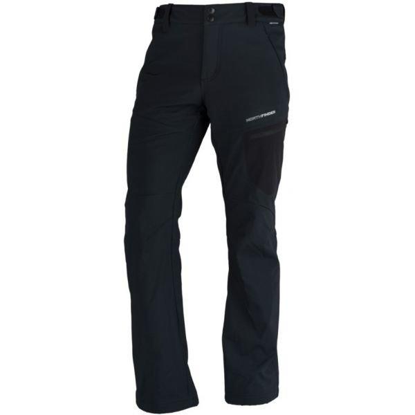 Černé softshellové pánské kalhoty NorthFinder - velikost XXL