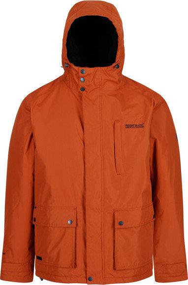 Hnědá zimní pánská bunda s kapucí Regatta - velikost S
