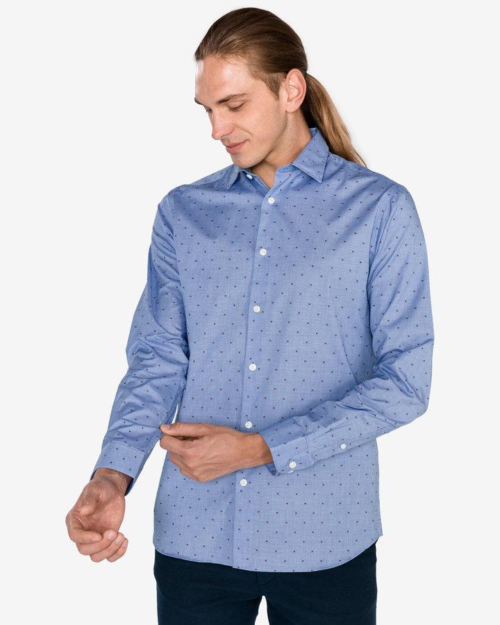 Modrá pánská košile s dlouhým rukávem Selected - velikost L
