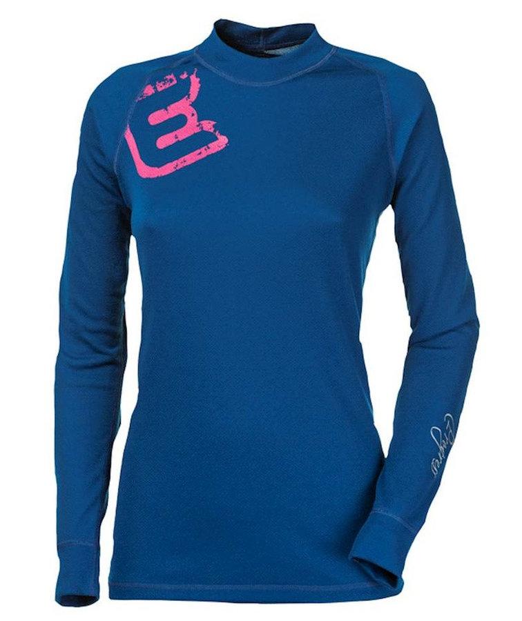 """Cyklistické tričko - Dámské funkční triko Progress DF NDRZ Print """"E"""" potisk Velikost: M / Barva: modrá"""