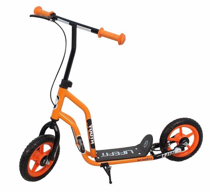 Černo-oranžová dětská koloběžka Youth, Lifefit - nosnost 45 kg