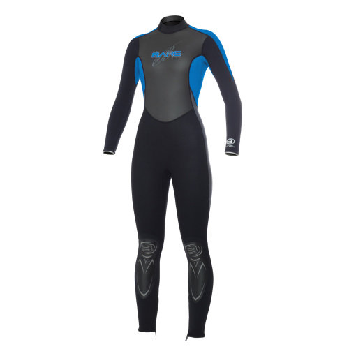Modrý dámský neoprenový oblek Velocity Full 3/2 Lady, Bare - velikost 16 a tloušťka 3 mm