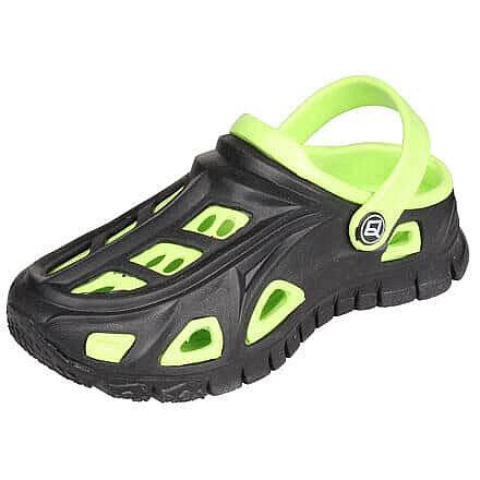 Černo-zelené dětské pantofle Aqua-Speed - velikost 31 EU