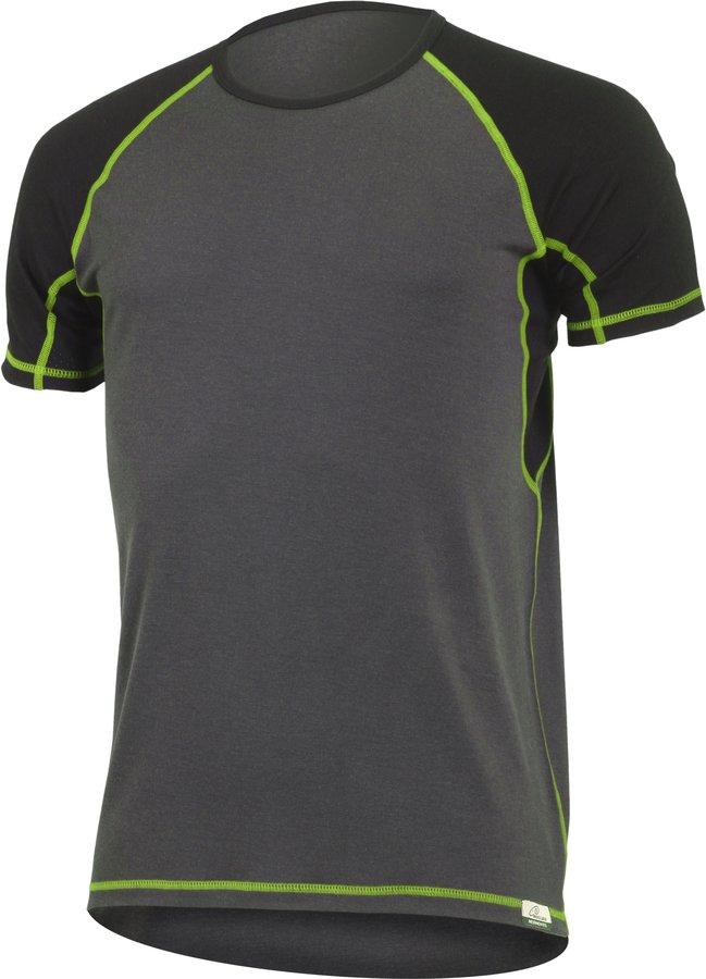 Šedé pánské tričko s krátkým rukávem Lasting