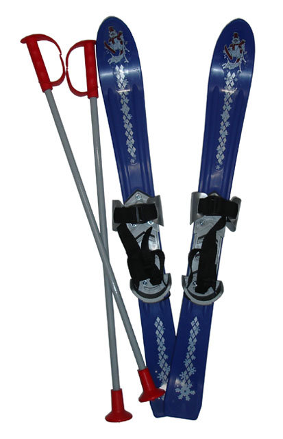 Sada na sjezdové lyžování - Plastkon Lyže Baby Ski 70 cm Barva: modrá