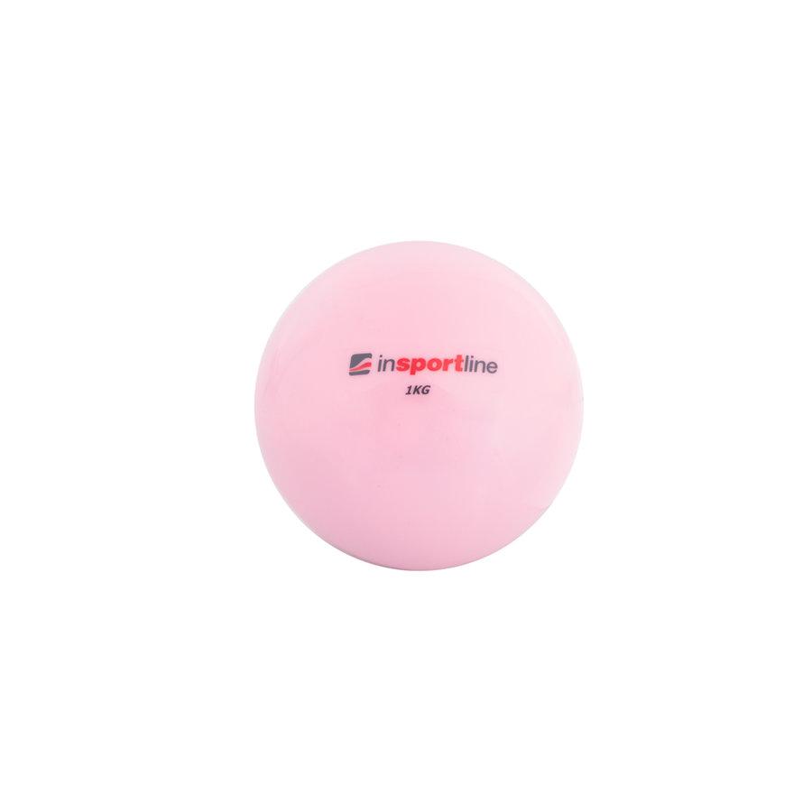 Růžový míč na jógu inSPORTline - 1 kg